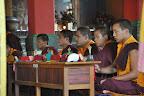 Monastic trainees chanting fervently, Reverberating!