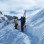 Adamello ski raid - Passo degli Inglesi preparazione percorso
