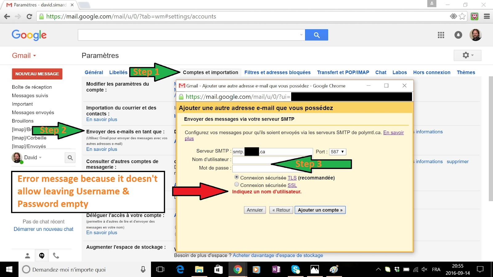 how to use google smtp server