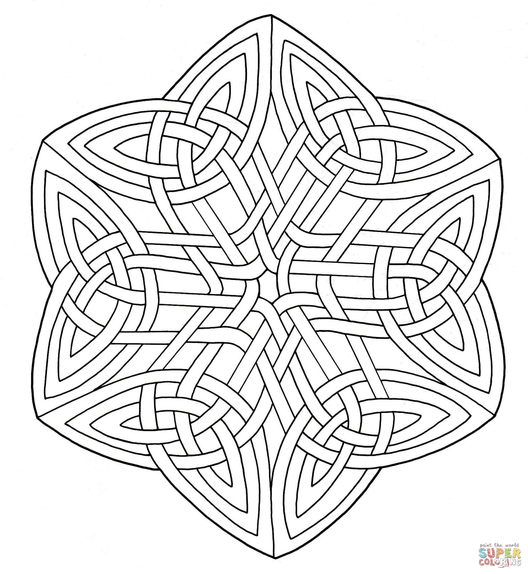Best HD Celtic Designs Coloring Pages Drawing