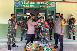 Polres Sekadau dan Koramil Sekadau Hilir Rayakan HUT TNI Ke-76