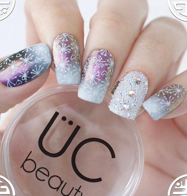 Top 50 amazing snow nail art designs for winter fashonails top 50 amazing snow nail art designs for winter prinsesfo Images