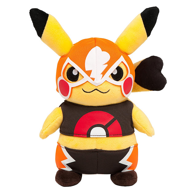 Amazon Cosplay Pikachu Libre Omega Ruby  Alpha Sapphire Plush Stuffed  Doll Pokemon Center Mega Tokyo Exclusive Japan Import Toys  Games