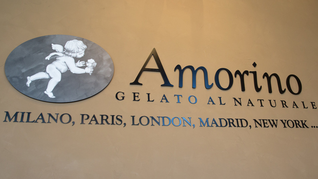 photo of the sign for Amorino Gelato