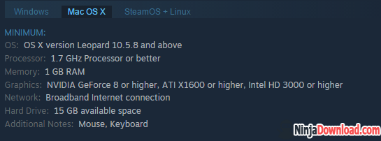 Team Fortress 2 MAC System Requirements