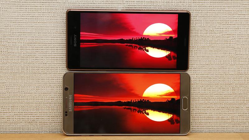 So sánh màn hình hiển thị Note 5 và Z3
