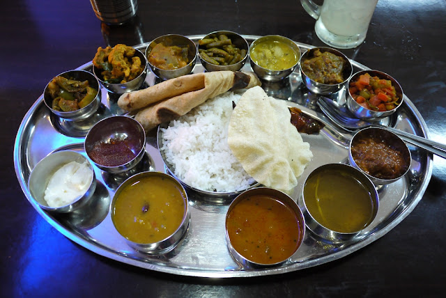vegetarian Indian thali in Penang
