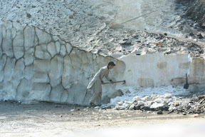 Cutting ice to make way, (Kaghan Valley KPK)