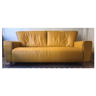 Calia Italian Leather Sofa