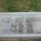 Helen Irene Dunkley Daughter of Edward B. and Jessie Lillian Dunkley The Gleaves Family Cemetery Cripple Creek, Wythe County, Virginia