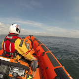 Heading back towards the entrance to Poole Harbour  - Sunday 4 May 2014.   Photo: RNLI Poole/ Dave Riley