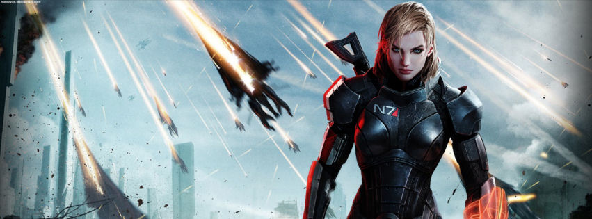 Mass effect 3 female shepard facebook cover