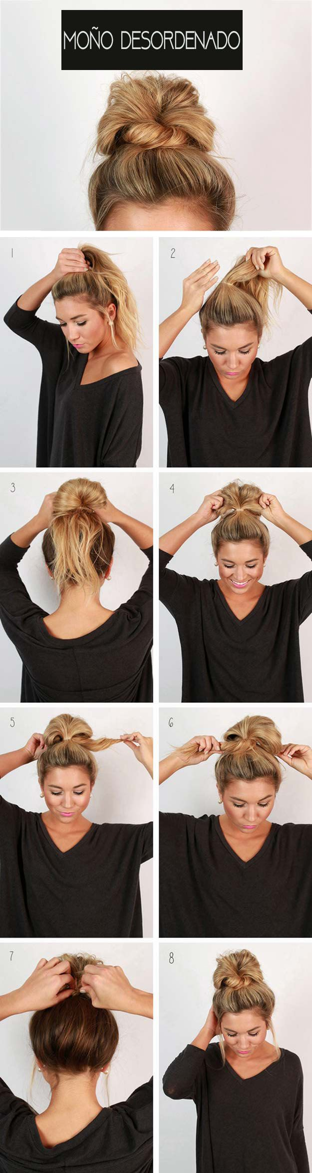 + 25 easy hairstyles 2018-2019 step by step 6