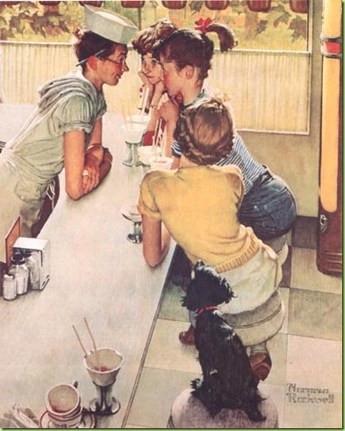 rockwell--august--soda-fountain