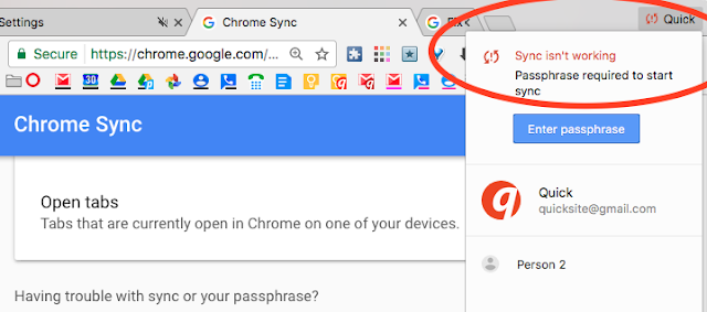Chrome Bookmarks Not Syncing - Coding and billing