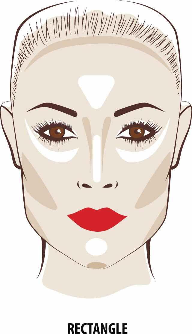 تقصير مظهر الوجه المستطيل الشكل