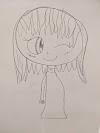 Girl free drawing