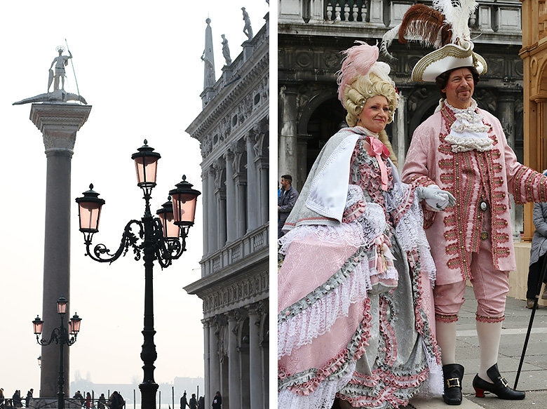 Couple costumé au Carnaval de Venise.