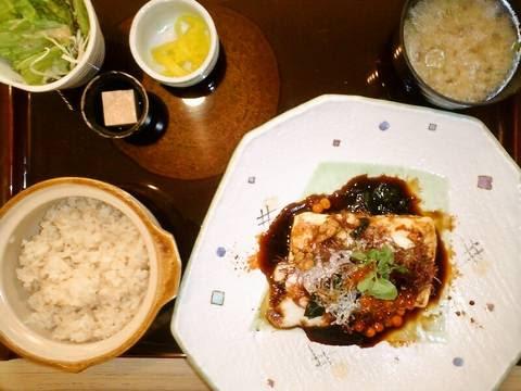 畑流豆腐ステーキ¥920(【岐阜県岐阜市】野菜畑 岐阜店)