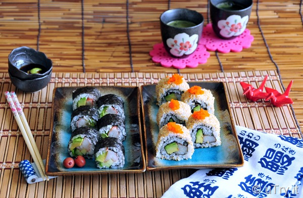 How to Make Classic California Roll – 2 Ways 經典加州卷 (兩式)  http://uTry.it