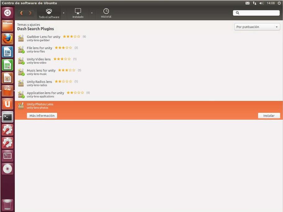 Ubuntu%252012.10%2520software%2520center%2520instalar%2520lens Ubuntu Software Center 5.3.9 con plugins de búsqueda Dash y lens