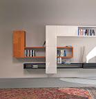 composizione di mobili e contenitori 36e8 Lago mobili e libreria Linea