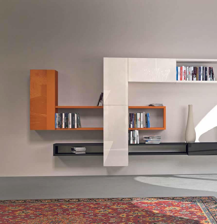 espo casa salotti moderni : composizione di mobili e contenitori 36e8 Lago mobili e libreria Linea
