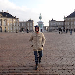 walking through amalienborg castle in Copenhagen, Copenhagen, Denmark
