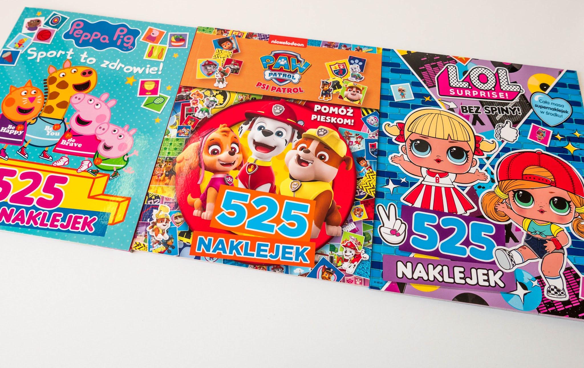 książki z zadaniami i kolorowankami dla dzieci