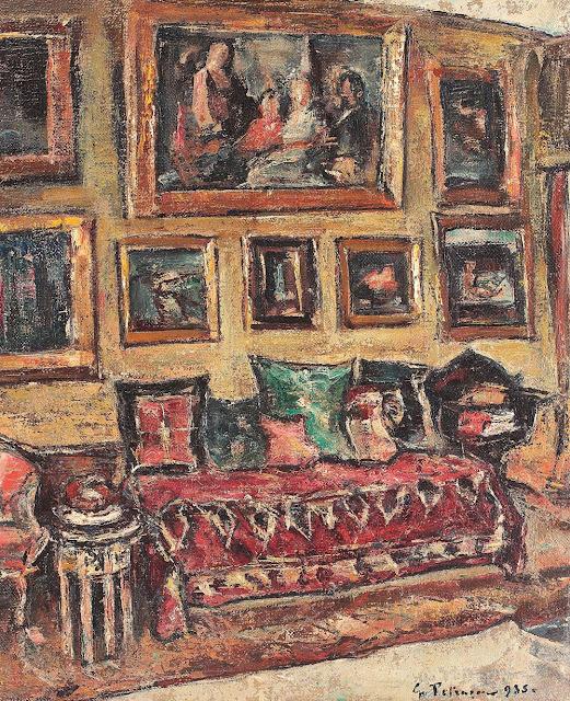 Gheorghe Petrașcu - Interior din strada Zambaccian