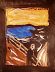 Tribute to Edvard Munch by Calvin