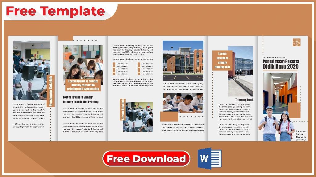 Download Brosur Sekolah Format Word Gratis