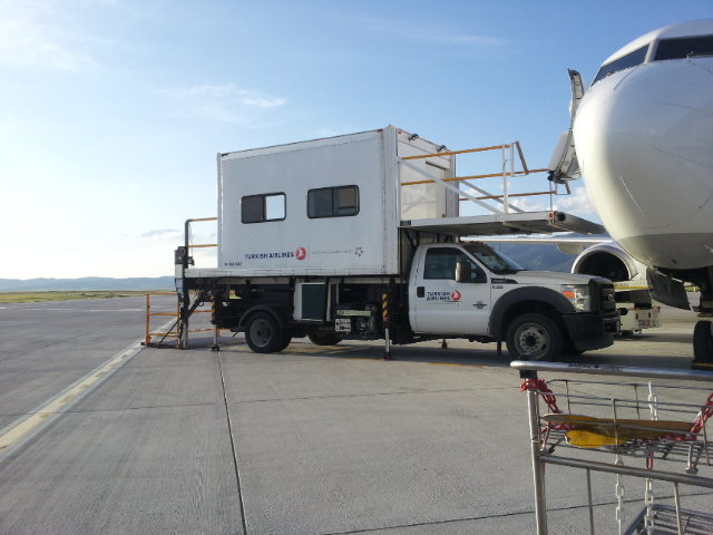 Loading trucks for accessible travel with Turkish airlines