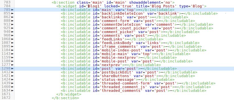 Blogger HTML-Editor