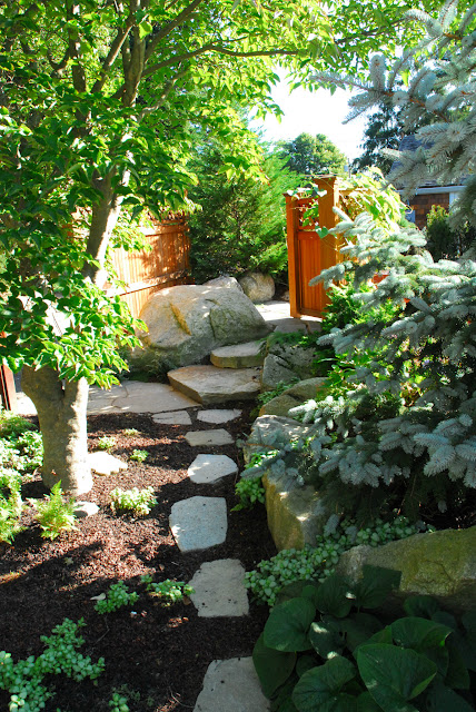 Garden Path to Hot Tub