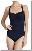 Seafolly Indigo Ruched Halterneck Swimsuit
