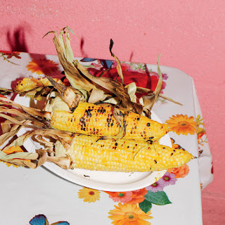 Grilled Sweet Corn with Coconut Glaze