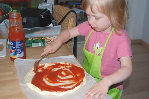 Vandaag maken we lekker zelf pizza