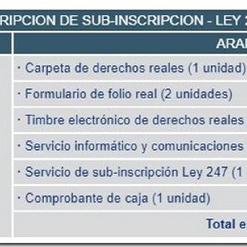 """Bolivia: Requisitos y costos para realizar la """"Inscripción de Sub-Inscripción - Ley 247"""" en Derechos Reales"""