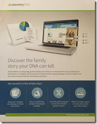 AncestryDNA Brochure from FGS 2016 conference