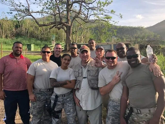 Chef José Andrés with relief workers in Puerto Rico during his 2017 #ChefsForPuertoRico campaign. Photo: José Andrés