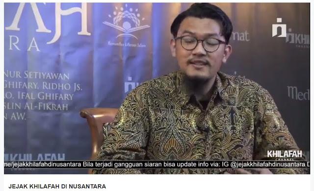 """Film dokumenter Jejak Khilafah di Nusantara ini akurat. """"Sudah melalui tahapan-tahapan riset verifikasi yang akademis sehingga bisa dipertanggungjawabkan,"""" tandas Nicko"""