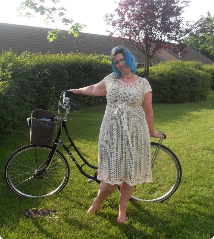 Kjole med bindebånd