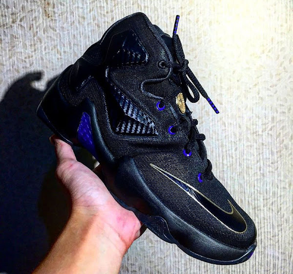 LeBron 13 in Black Purple Gold and with Dunkman