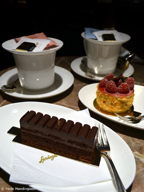 Desserts with Tea Sirocco Grand Selection. Gentle Blue Earl Grey for me. Red Kiss  Früchtetee for Kite.