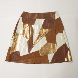 Rodarte X & Other Stories Patchwork Leather Wrap Skirt