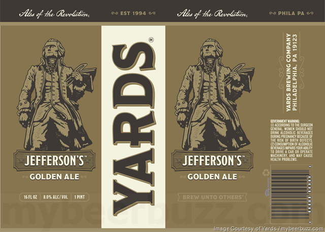 Yards Brewing Jefferson's Golden Ale Coming To 16oz Cans