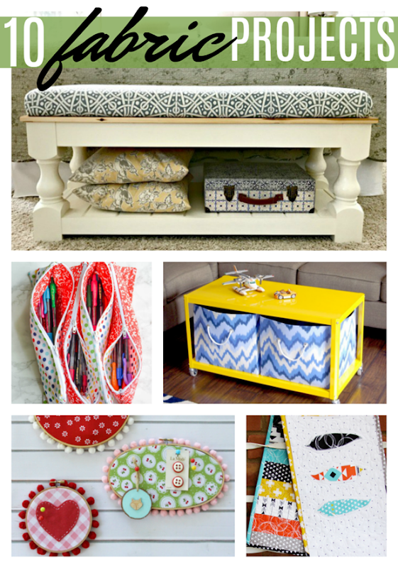 10 Fabric Projects #gingersnapcrafts #fabrics