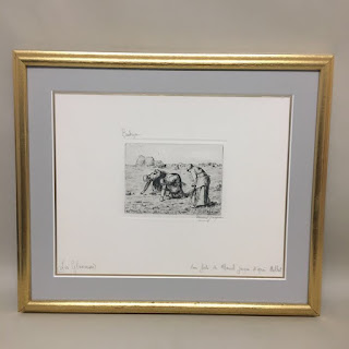"""Marcel Jacque Signed """"Les Glaneuses"""" Etching"""