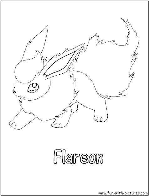 Flareon Pokemon Colouring Pages